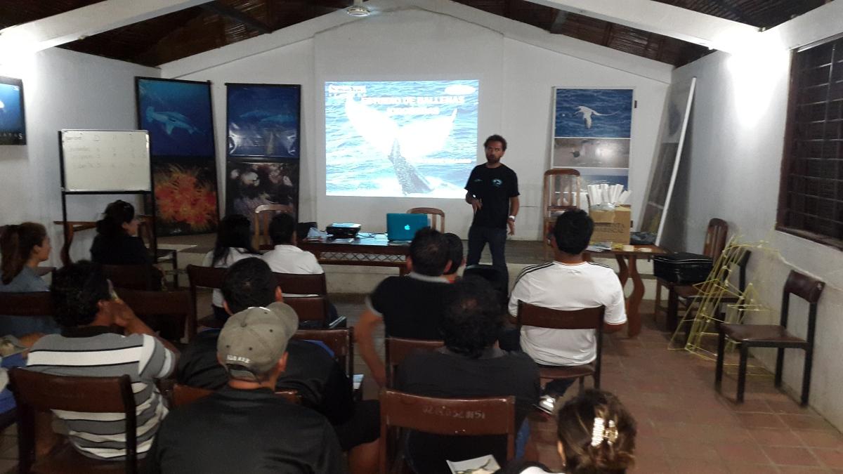 Ecuador Training. Participants listen to presentation