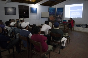 Ecuador Training. Dr. Cristina Castro gives presentation