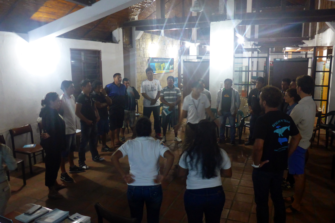 Ecuador Training. Participants standing in circle