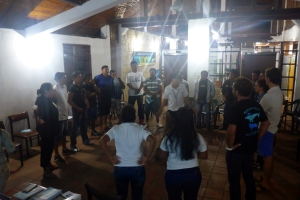 Ecuador Training. Participants standing in circle