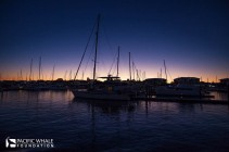 Urangon Harbour at dusk.