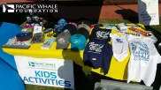Some of the PWF merchandise available for sale at our booth.