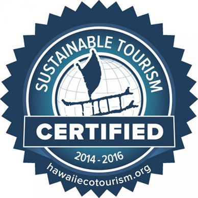 Sustainable Tourism Certified since 2014 (this one is out of date?)