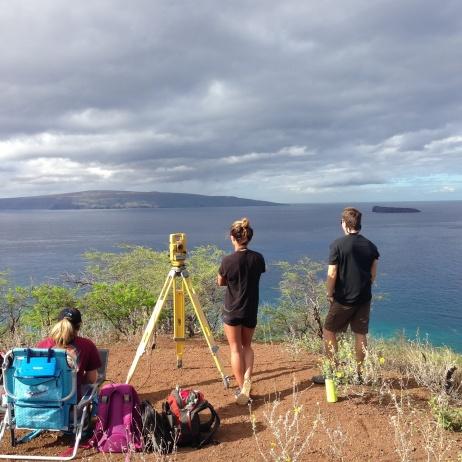 Pu'u Olai provides an excellent vantage point for surveys