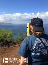 Using a theodolite to track whales takes patience and practice