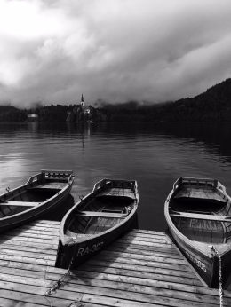 An iconic scene of Lake Bled.