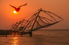 Traditional fishing nets In Cochin Fort, Kerala, India
