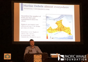 Jens presenting PWF's work at the 6th International Marine Debris Conference.