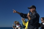 Greg worked to educate the public about whales and conservation