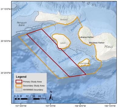 Study area for the 2018-2022 false killer whale study