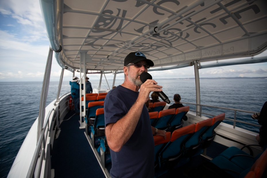 Dr. Paul Forestell on Pacific Whale Foundation's VIP cruise