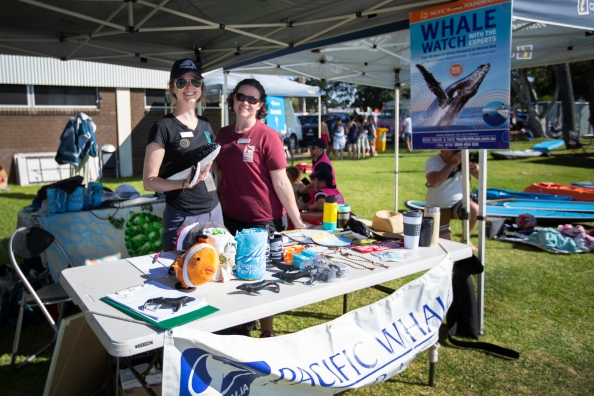 Pacific Whale Foundation information booth