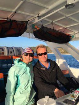 Erin and Captain Scott aboard Ocean Defender
