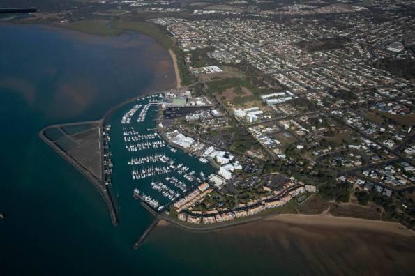 Aerial view of Hervey Bay's Marina