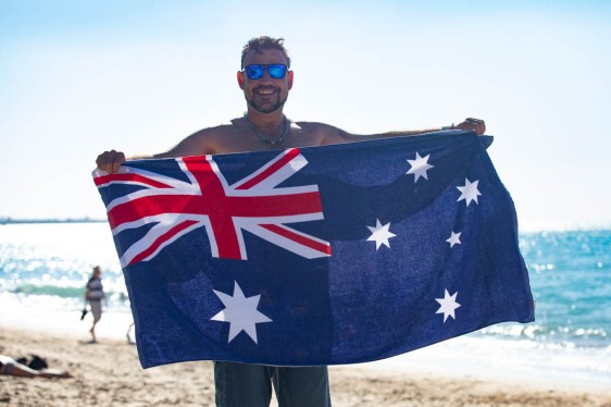 Proud Aussie shows of his colors